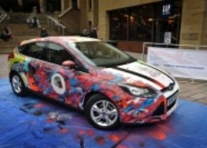 Graffiti art op de Ford Focus