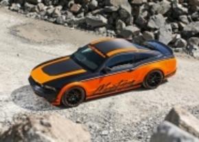Oranjezwarte Mustang van Design World
