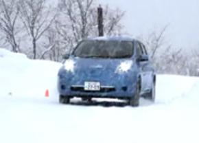 Nissan LEAF overleeft winterse omstandigheden