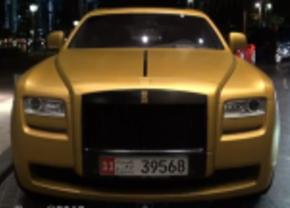 mat gouden Rolls Royce Ghost in Dubai