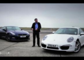Porsche Carrera S vs Nissan GT-R video