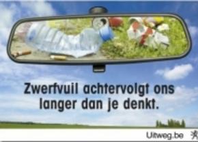 3.261 ton zwerfvuil langs Vlaamse wegen