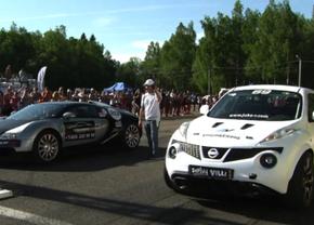 Bugatti vs nissan
