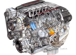 Deze 6.2 V8 ligt straks onder de kap van de nieuwe Corvette