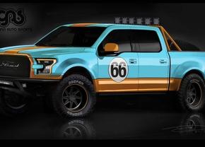 ford f-150 galpin autosports gulf livery sema 2015
