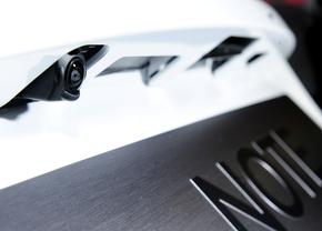 Nissans achteruitrijcamera is proper op z'n eigen