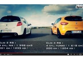 Videotip: Clio IV RS ontmoet zijn voorganger Clio III RS