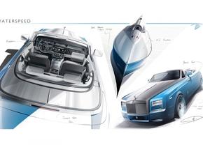Eerste schetsen van Rolls Royce Bespoke Waterspeed Collection