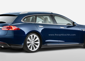 Tesla Model S wagon render