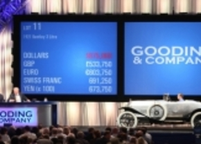 Oudste Bentley ter wereld geveild voor 962.500 dollar