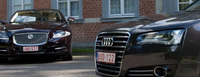 Rijtest Jaguar XJ 5.0l SuperSports vs Audi A8 4.2 TDI