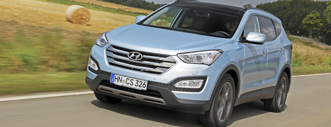 Hyundai Santa Fe 2012 test